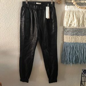 NWT J brand Leather Joggers